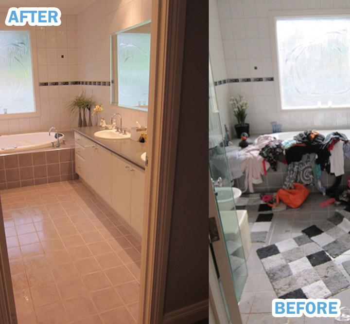 Another example of before and after house clearance services