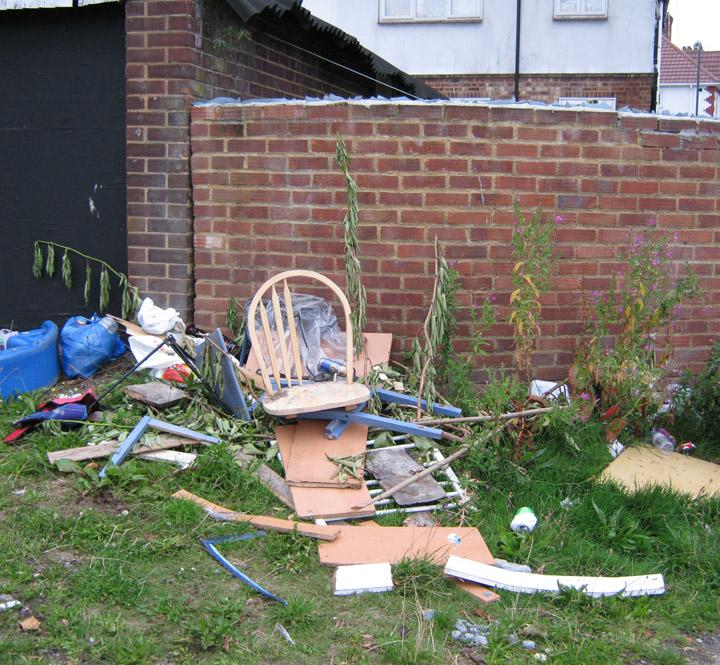 fly tipping example