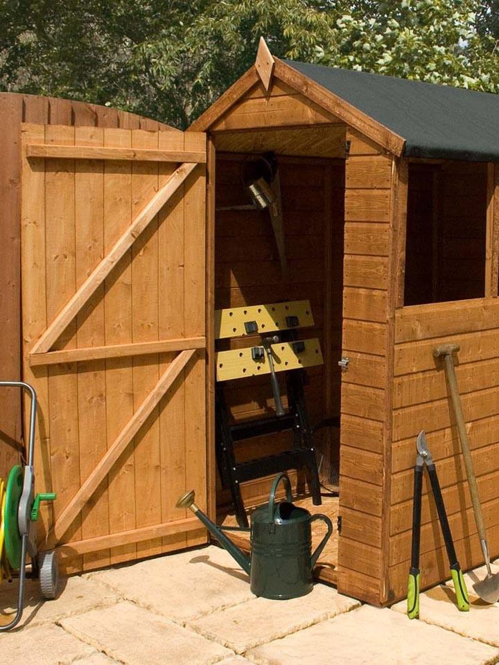 Wooden Shed that received a clear out